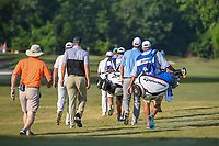 Seamus Power (IRL) and David Hearn (CAN) head down 1 during Round 3 of the Zurich Classic of New Orl, TPC Louisiana, Avondale, Louisiana, USA. 4/28/2018.<br /> Picture: Golffile | Ken Murray<br /> <br /> <br /> All photo usage must carry mandatory copyright credit (&copy; Golffile | Ken Murray)
