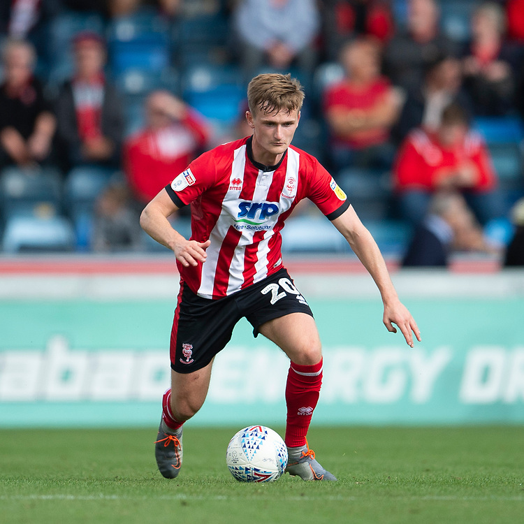 Lincoln City's Callum Connolly<br /> <br /> Photographer Andrew Vaughan/CameraSport<br /> <br /> The EFL Sky Bet League One - Wycombe Wanderers v Lincoln City - Saturday 7th September 2019 - Adams Park - Wycombe<br /> <br /> World Copyright © 2019 CameraSport. All rights reserved. 43 Linden Ave. Countesthorpe. Leicester. England. LE8 5PG - Tel: +44 (0) 116 277 4147 - admin@camerasport.com - www.camerasport.com