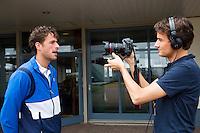 16-06-13, Netherlands, Rosmalen,  Autotron, Tennis, Topshelf Open 2013, ,  Interview Robin Haase voor tennis tv door Jan-Willem de Lange<br /> <br /> Photo: Henk Koster