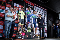 podium:<br /> <br /> 1st place - Thomas Boudat (FRA/Total - Direct Energie)<br /> 2nd place - Baptiste Planckaert (BEL/Wallonie Bruxelles)<br /> 3th place - Niki Terpstra (NED/Direct Energie)<br /> <br /> Circuit de Wallonie 2019<br /> One Day Race: Charleroi – Charleroi 192.2km (UCI 1.1.)<br /> Bingoal Cycling Cup 2019