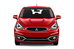 Car photography straight front view of a 2019 Mitsubishi Spacestar Invite 5 Door Hatchback Front View