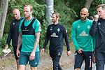 30.06.2020, Trainingsgelaende am wohninvest WESERSTADION,, Bremen, GER, 1.FBL, Werder Bremen Training, im Bild<br /> Spieler gegen zum Training, <br /> Christian Vander (Torwart-Trainer SV Werder Bremen)<br /> Kevin Vogt (Werder Bremen  #03)<br /> Ömer / Oemer Toprak (Werder Bremen #21)<br /> Tim Borowski (Co-Trainer SV Werder Bremen)<br /> <br /> <br /> <br /> <br /> Foto © nordphoto / Kokenge