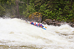 Rafting the world class whitewater of the Lochsa River during spring runoff in Idaho