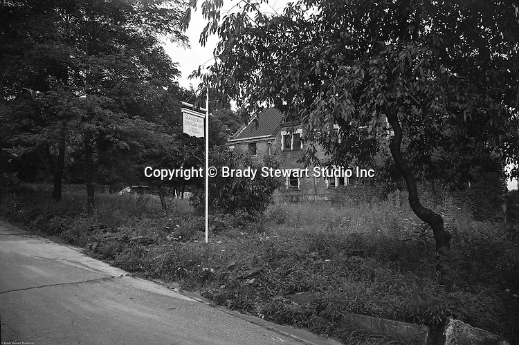 Point Breeze PA:  Location photography of S Richland Lane and Graymore Road for Reed, Smith, Shaw and McClay Attorneys.  View of the Private & No Trespassing sign for Graymore Road and S Richland Lane - 1948