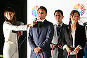 (L to R) Yuki Ota, Mami Sato, <br /> September 10, 2013  : <br /> Debrief session about Tokyo won the bid to host the 2020 Summer Olympic Games in Shinjuku, Tokyo, Japan. <br /> (Photo by Daiju Kitamura/AFLO SPORT)