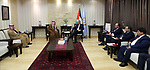 Palestinian Prime Minister Muhammad Shtayyeh, meets with Kuwait's ambassador to the State of Palestine, in the West Bank city of Ramallah, on December 22, 2019. Photo by Prime Minister Office
