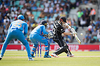 Kane Williamson (New Zealand) drives through point during India vs New Zealand, ICC World Cup Warm-Up Match Cricket at the Kia Oval on 25th May 2019