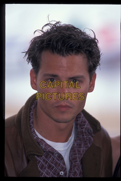 JOHNNY DEPP.Cannes Film Festival.Ref:1240.portrait, headshot, hair gel.*RAW SCAN- photo will be adjusted for publication*.www.capitalpictures.com.sales@capitalpictures.com.©Capital Pictures