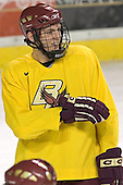Andrew Orpik - Boston College's morning skate on Friday, December 30, 2005 at Magness Arena in Denver, Colorado.  Boston College defeated Ferris State that afternoon in a shootout and defeated Princeton the following night to win the Denver Cup.