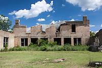 Ruins of old school building in Mosheim, TX
