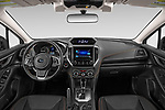 Stock photo of straight dashboard view of 2020 Subaru Crosstrek Premium 5 Door SUV Dashboard