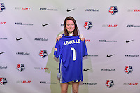 Los Angeles, CA - Thursday January 12, 2017: Rose Lavelle during the 2017 NWSL College Draft at JW Marriott Hotel.