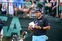 Hideki Matsuyama (JPN) looks over his tee shot on 1 during Saturday's round 3 of the 117th U.S. Open, at Erin Hills, Erin, Wisconsin. 6/17/2017.<br /> Picture: Golffile | Ken Murray<br /> <br /> <br /> All photo usage must carry mandatory copyright credit (&copy; Golffile | Ken Murray)