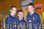 Seventeen schools from Kerry and Cork took part in Ceiluradh na nOg, in the Brandon Conference Centre yesterday (Wednesday). Pictured were: Dylan Harnett, Adam Barrett and Liam Cahill.