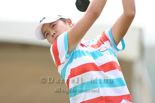 February 18, 2006; Kahuku, HI - Hee Won Han tees off during the final round of the LPGA SBS Open at Turtle Bay Resort...Mandatory photo credit: Darrell Miho.© Darrell Miho