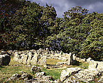 Din Lligwy Hut Circle, Nr Moelfre, Anglesey, Wales, UK. Celtic Britain published by Orion. Romano British homestead occupied during 4th centuary.