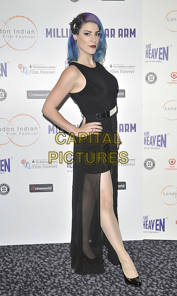 LONDON, ENGLAND - JULY 14: Jasz Vegas attends the London Indian Film Festival &quot;Million Dollar Arm&quot; UK film premiere, Cineworld Shaftesbury Avenue cinema, Coventry St., on Monday July 14, 2014 in London, England, UK. <br /> CAP/CAN<br /> &copy;Can Nguyen/Capital Pictures
