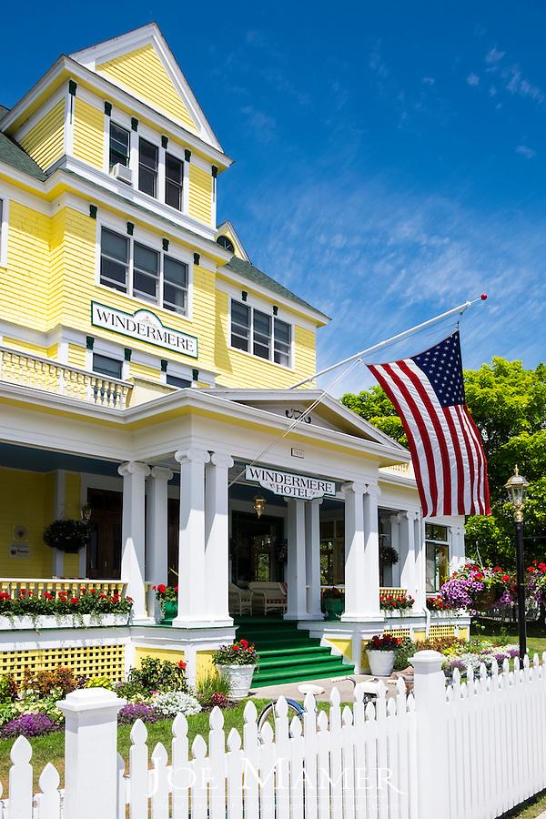 Windermere Hotel on historic Mackinac Island.