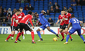 31st October 2017, Cardiff City Stadium, Cardiff, Wales; EFL Championship football, Cardiff City versus Ipswich Town; Omar Bogle of Cardiff City is surrounded by Ipswich Town defenders early in the game