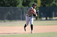 Mykanthony Valdez (71) of Calvary Christian Academy in Davie, Florida during the Under Armour Baseball Factory National Showcase, Florida, presented by Baseball Factory on June 13, 2018 the Joe DiMaggio Sports Complex in Clearwater, Florida.  (Nathan Ray/Four Seam Images)