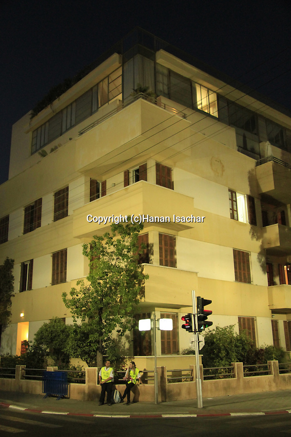 Israel, Tel Aviv, Bauhaus building on Rothschild boulevard