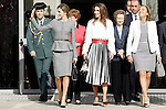 Queen Letizia of Spain and Queen Rania of Jordan visit the 'Severo Ochoa' Molecular Biology Centre at the Universidad Autonoma of Madrid. November 18, 2015. (ALTERPHOTOS/Acero)
