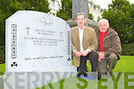 Cllr Michael Courtney and Noel Grimes who are preparing for the unvailing of the commerative monument to Killarney soldiers who died in the 1914-18 Great War which will be held on the 24 September