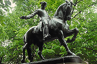 Paul Revere statue, North End, Boston, MA (Cyrus Dallin, sculptor)
