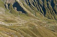 The mountainside above La Village des Glaciers, Mont Blanc, September 2007.