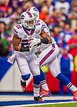 19 October 2014: Buffalo Bills running back Fred Jackson takes a handoff in the first quarter against the Minnesota Vikings at Ralph Wilson Stadium in Orchard Park, NY. The Bills defeated the Vikings 17-16 in a dramatic, last minute, comeback touchdown drive. Mandatory Credit: Ed Wolfstein Photo *** RAW (NEF) Image File Available ***
