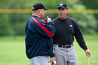 29 April 2009: MLB representative are seen during the first of six 2009 MLB European Academy Try-out Sessions throughout Europe, at Stade Pierre Rolland, in Rouen, France. Try-out sessions are run by members of the Major League Baseball Scouting Bureau with assistance from MLBI staff.