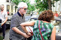 Spanish director Pedro Almodovar arrives to the academy after the reading of the selected movie to represent Spain at the Oscars in Madrid. September 07, 2016. (ALTERPHOTOS/Borja B.Hojas)