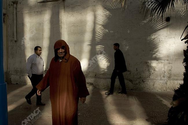 Street scene in central Casablanca, Morocco.