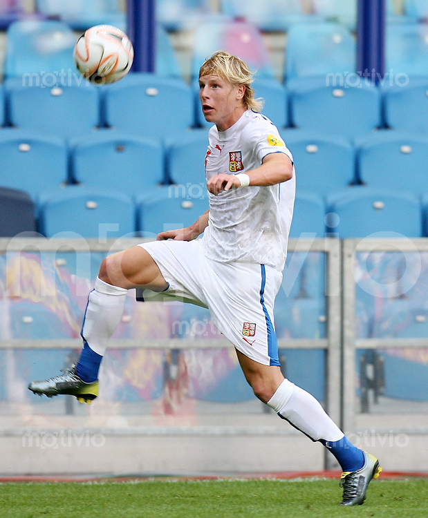 Fussball   International   U21-Europameisterschaft Frantisek RAJTORAL (CZE), Einzelaktion am Ball