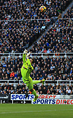 4th November 2017, St James Park, Newcastle upon Tyne, England; EPL Premier League football, Newcastle United Bournemouth; Artur Boruc of AFC Bournemouth saves a shot from Matt Ritchie of Newcastle United in the first half