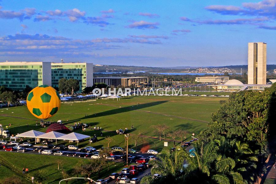 Esplanada dos Ministerios e Congresso Nacional. Brasilia. Distrito Federal. 2012. Foto Joao Roberto