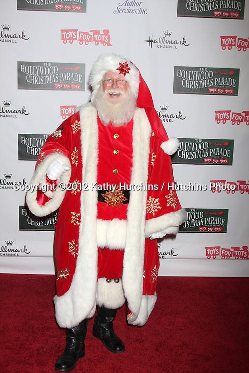 LOS ANGELES - NOV 25:  Santa Claus arrives at the 2012 Hollywood Christmas Parade at Hollywood & Highland on November 25, 2012 in Los Angeles, CA