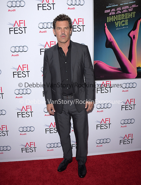 Josh Brolin at The Gala screening of INHERENT VICE at AFI FEST 2014 presented by Audie held at at The Egyptian Theatrein Hollywood, California on November 08,2014                                                                               © 2014 Hollywood Press Agency