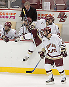 Brian O'Hanley, Matt Greene, Jerry York (Andrew Orpik) - Joe Rooney, Benn Ferreiro - Boston College defeated Merrimack College 3-0 with Tim Filangieri's first two collegiate goals on November 26, 2005 at Kelley Rink/Conte Forum in Chestnut Hill, MA.