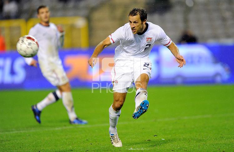 Steven Cherundolo of team USA during the friendly match Belgium against USA at King Baudoin stadium in Brussel, Belgium on September 06th, 2011.