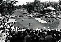 Golfers putt out on the 18th hole at the Olympic Club in San Francisco, Ca.during the 1966 U.S.Open.won by Billy Casper in a play-off against Arnold Palmer.<br />
