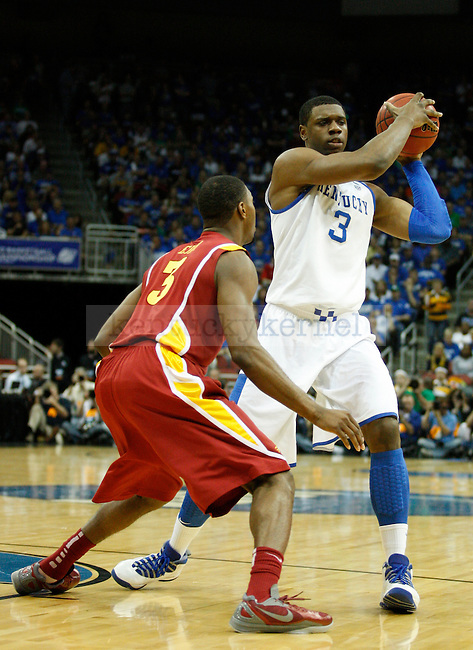 Melvin Ejim guards Terrence Jones in the University of Kentucky game against Iowa State University, in the third round of the NCAA Tournament, in the KFC Yum! Center, on Saturday, March 17, 2012 in Louisville, Ky. Photo by Latara Appleby | Staff