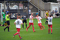 Action from the ISPS Handa Premiership Football match between Wellington Phoenix Reserves and Canterbury United Dragons at David Farrington Park in Wellington, New Zealand on Sunday, 11 February 2018. Photo: Dave Lintott / lintottphoto.co.nz