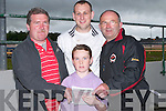 6983- 6990.DOGS: Marking their card at the Denny's Kerry District League Fundraiser Night at the Dogs at Kingdom Greyhound Stadium, Tralee, on Saturday were Jack and Shauna Moriarty and Greg and Tadgh Healy (Tralee)..