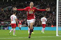 Zlatan Ibrahimovic of Manchester United celebrates scoring the winning goal <br /> Londra Wembley Stadium Southampton vs Manchester United - EFL League Cup Finale - 26/02/2017 <br /> Foto Phcimages/Panoramic/Insidefoto