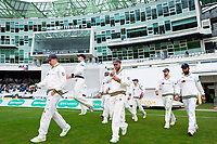 Picture by Alex Whitehead/SWpix.com - 23/04/2018 - Cricket - Specsavers County Championship Div One - Yorkshire v Nottinghamshire, Day 4 - Emerald Headingley Stadium, Leeds, England - Yorkshire players walk out for the start of play.