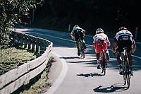 Sep Vanmarcke (BEL/Cannondale-Drapac) speeding away in the descent<br /> <br /> Il Lombardia 2017<br /> Bergamo to Como (ITA) 247km