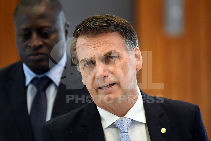 BRASÍLIA, DF, 22.11.2018 – AGENDA-BOLSONARO – O presidente eleito, Jair Bolsonaro durante visita ao Ministério da Marinha na manhã desta quinta-feira, 22.(Foto: Ricardo Botelho/Brazil Photo Press)