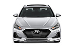 Car photography straight front view of a 2018 Hyundai Sonata Limited 4 Door Sedan