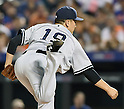Masahiro Tanaka (Yankees), SEPTEMBER 18, 2015 - MLB : New York Yankees starter Masahiro Tanaka throws the ball against the New York Mets in the third inning of a baseball game in New York, United States. (Photo by AFLO)